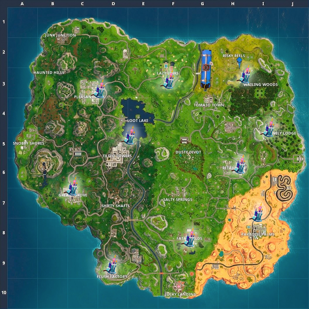 Birthday Cake Locations And Map Dance Challenge In Fortnite Shacknews