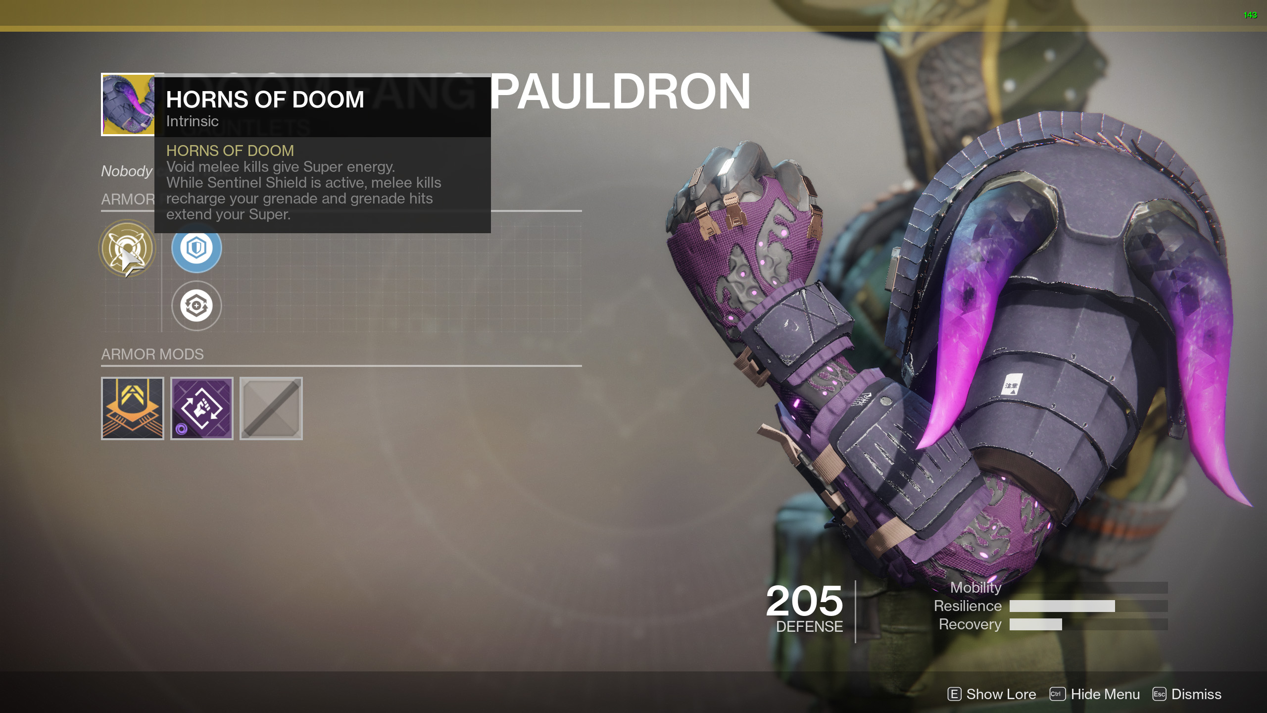 Back To Exotic Titan Armor List