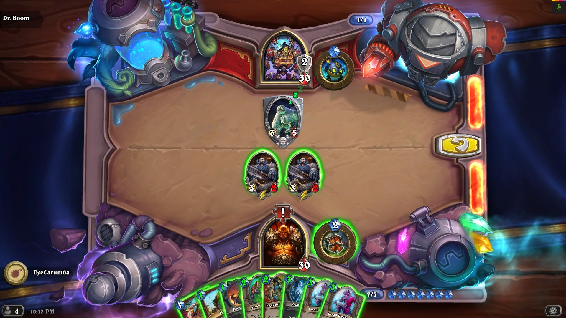 hearthstone the boomsday project dr boom lethal puzzle lab