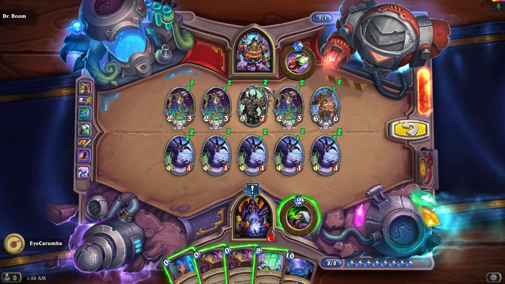 Hearthstone: The Boomsday Project - Dr  Boom Survival Puzzle Lab