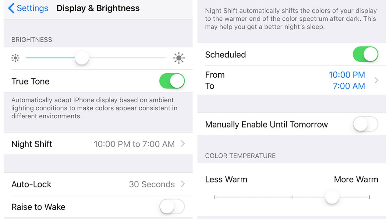 How to turn off blue light on iPhone using Night Shift