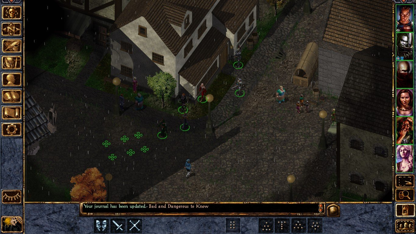 The user interface in Baldur's Gate.