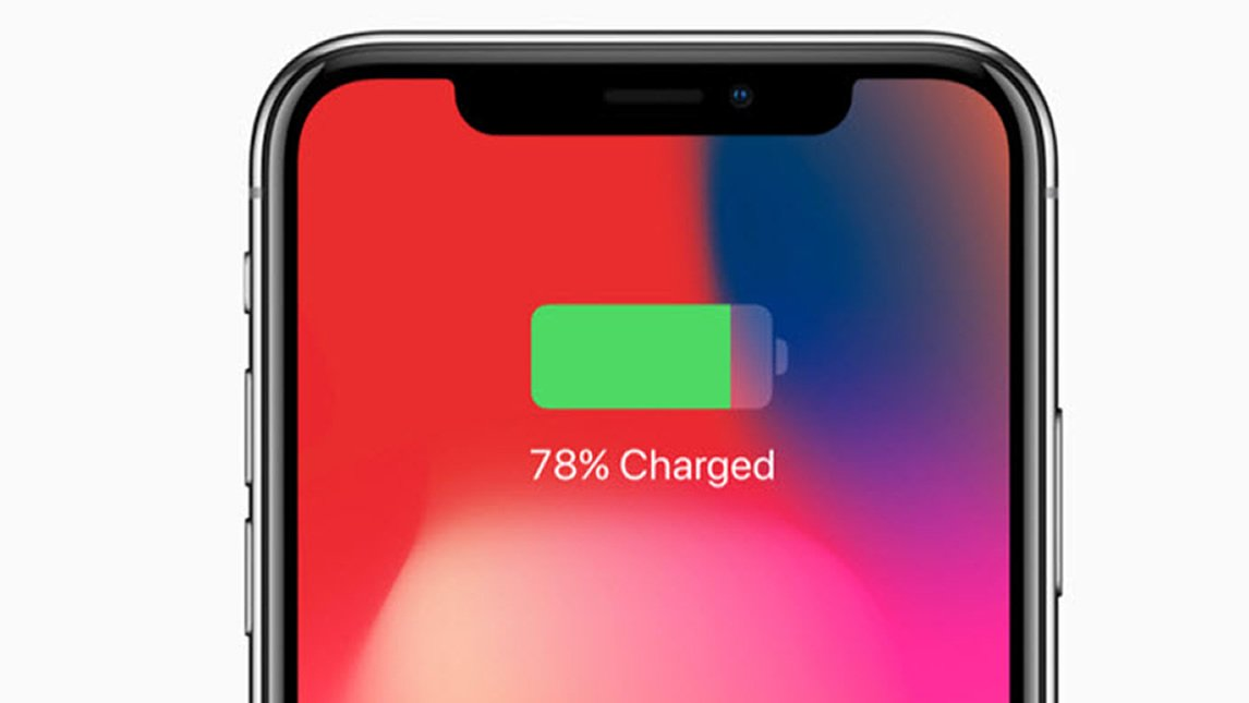 iPhone X models additionally display battery percentage while charging.