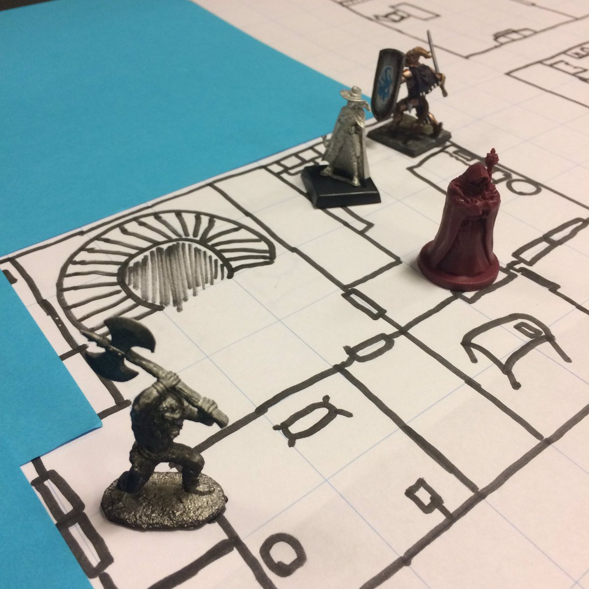 Sawyer frequently plays in and DMs tabletop games at Obsidian. (Photo courtesy of Sawyer's Twitter page.)