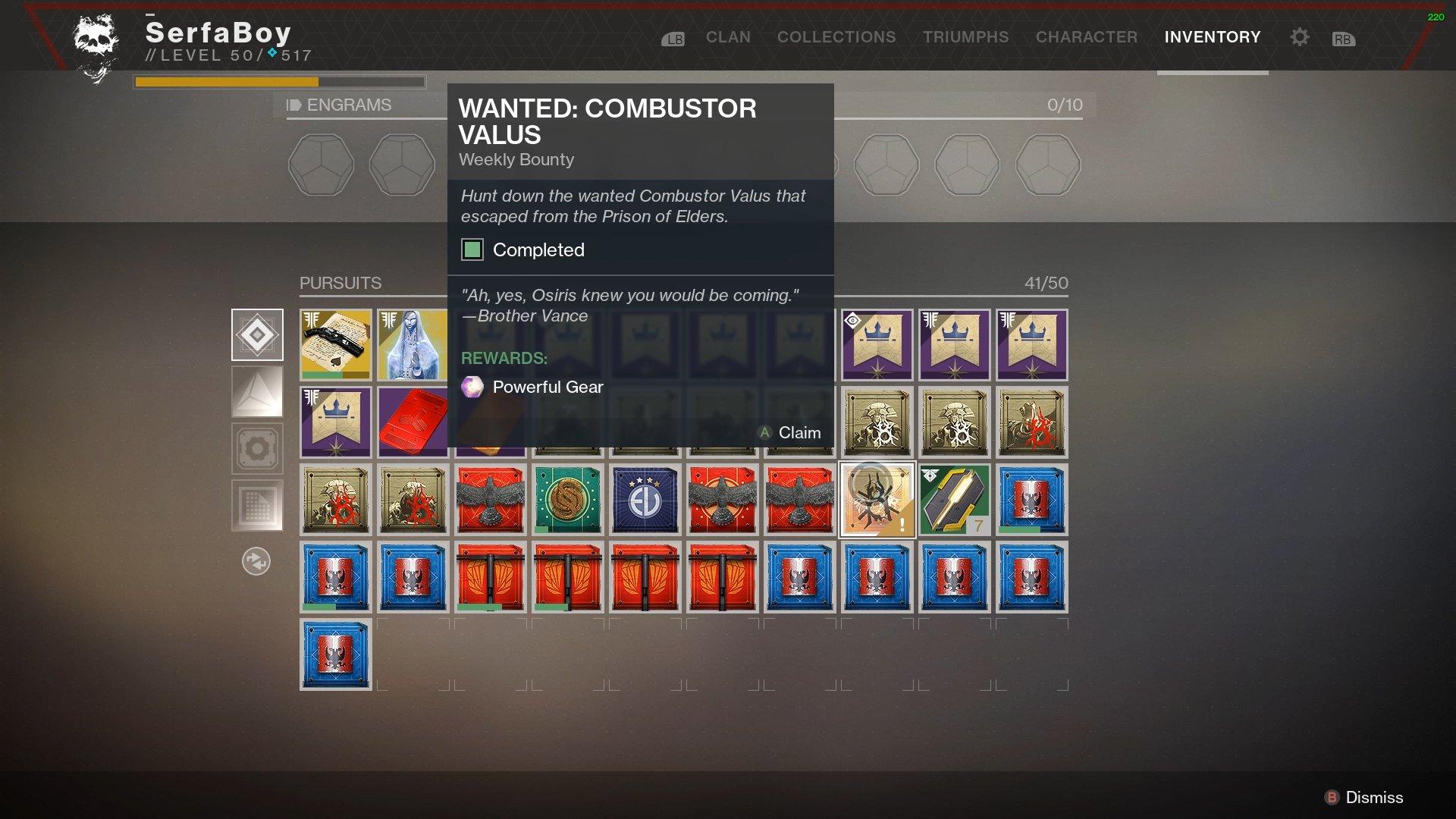Combustor Valus Destiny 2