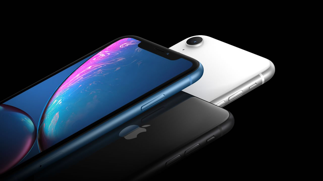 The pared-down iPhone XR comes in a variety of different colors.