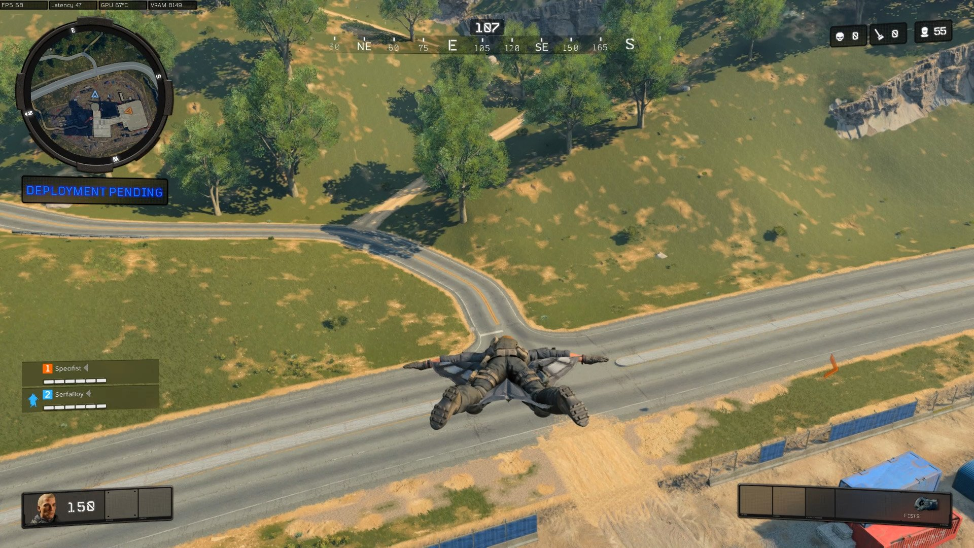 How to redeploy the wingsuit in Call of Duty Blackout