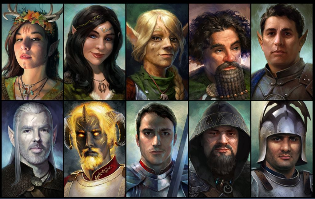 Character portraits exclusive to Fig backers at and above a certain donation level.