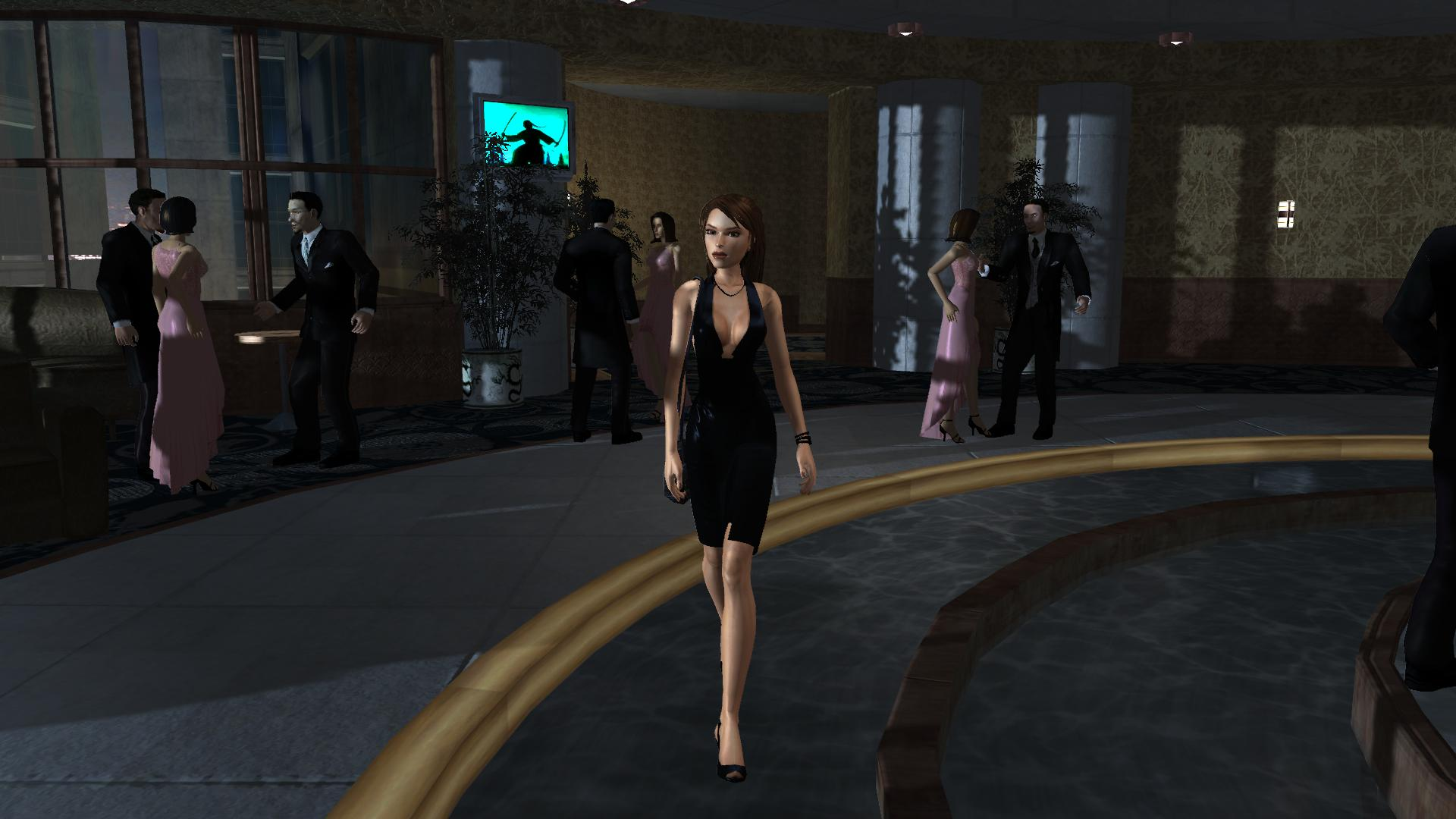 In Tomb Raider: Legend, Crystal augmented Lara's sexuality by combining it with her natural sophistication and poise acquired over years of adventuring. The result was a character whose physical beauty was obvious, but not her most defining characteristic (image courtesy of Crystal Dynamics).
