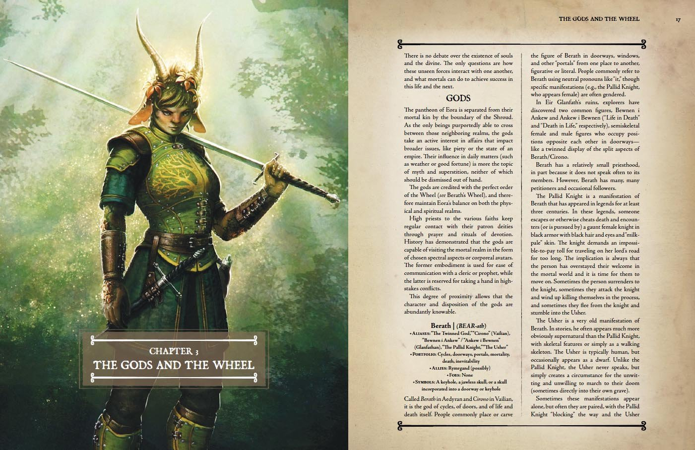 One Kickstarter reward was a full-color guidebook that detailed Pillars' lore and races.
