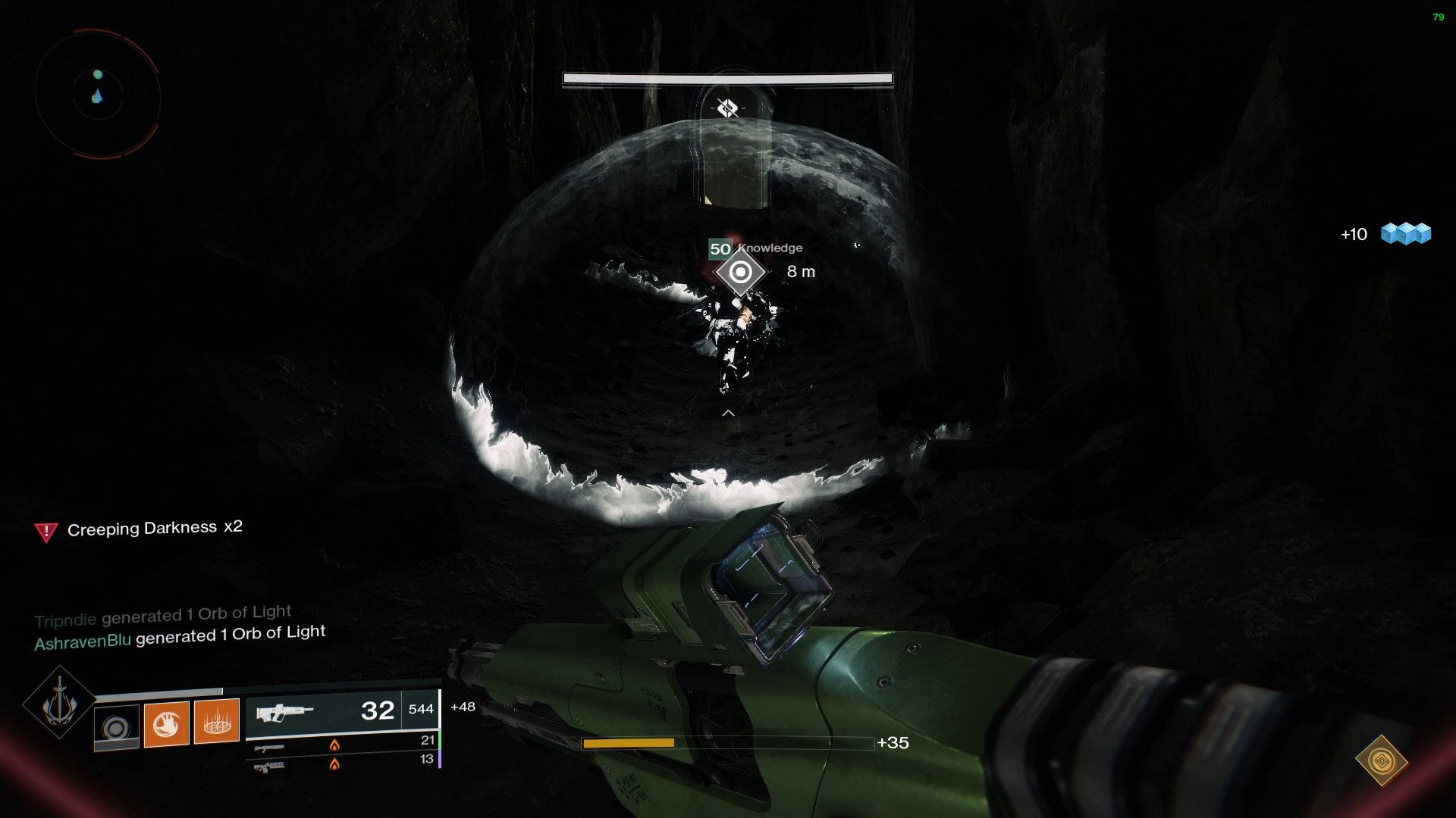 Players must use the tunnels in the Vault section to reach the final drop down to the statue of Riven.