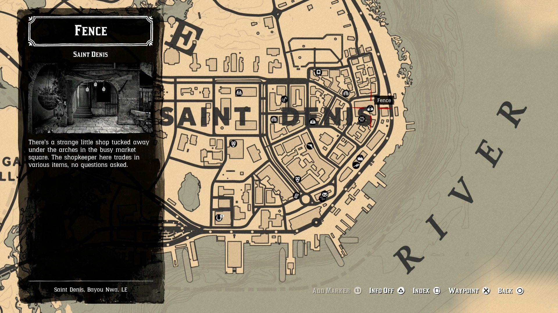 Saint Denis fence location - Saint Denis