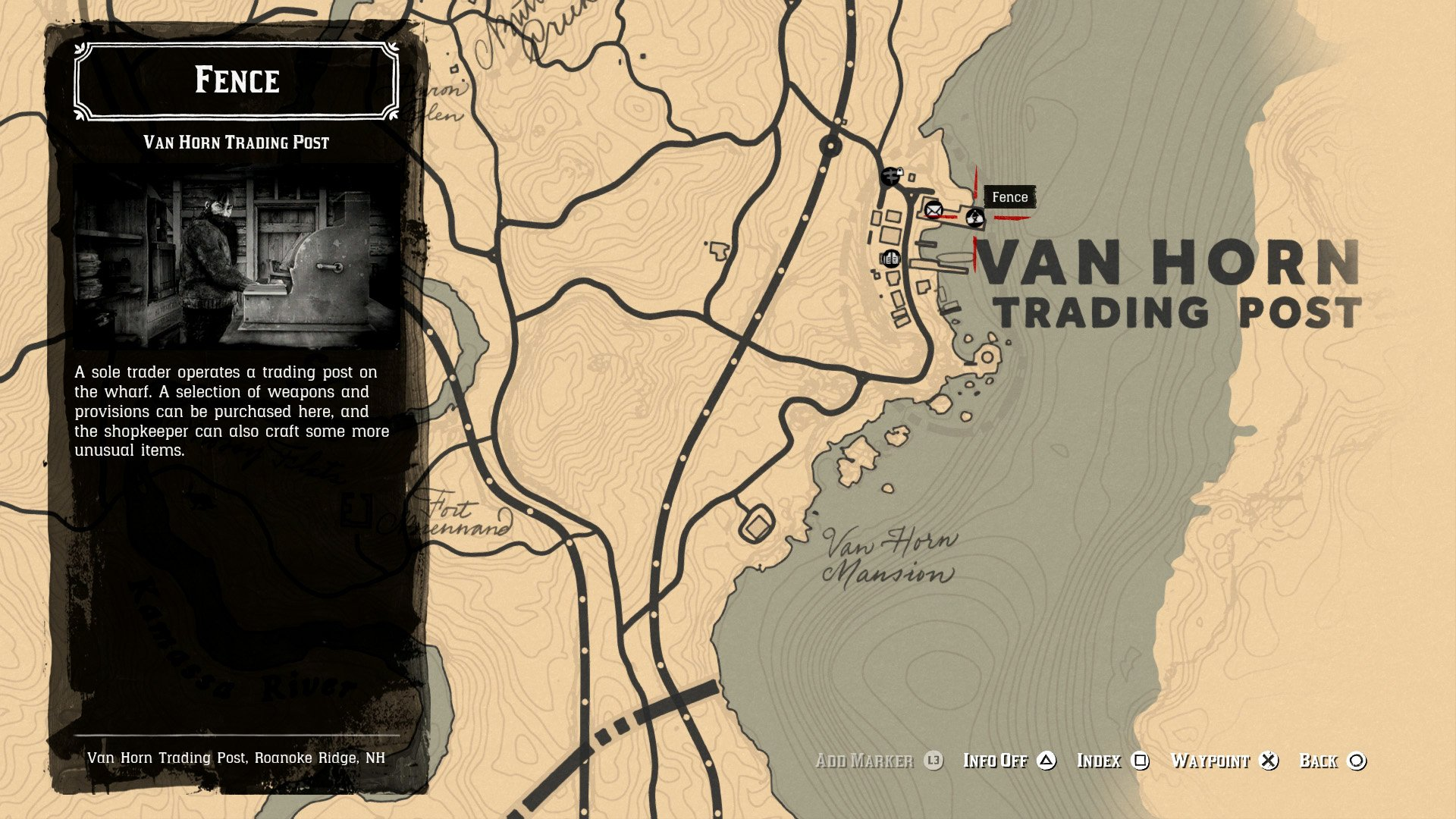 Van Horn Fence location - RDR2