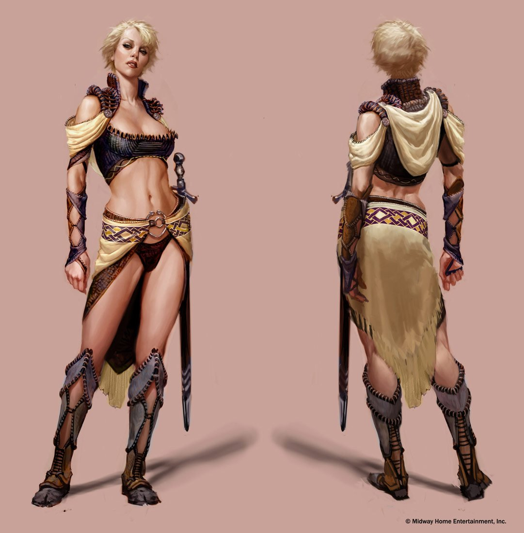 Gauntlet: Seven Sorrows' Valkyrie wearing light armor. (Imagery courtesy of John Romero.)