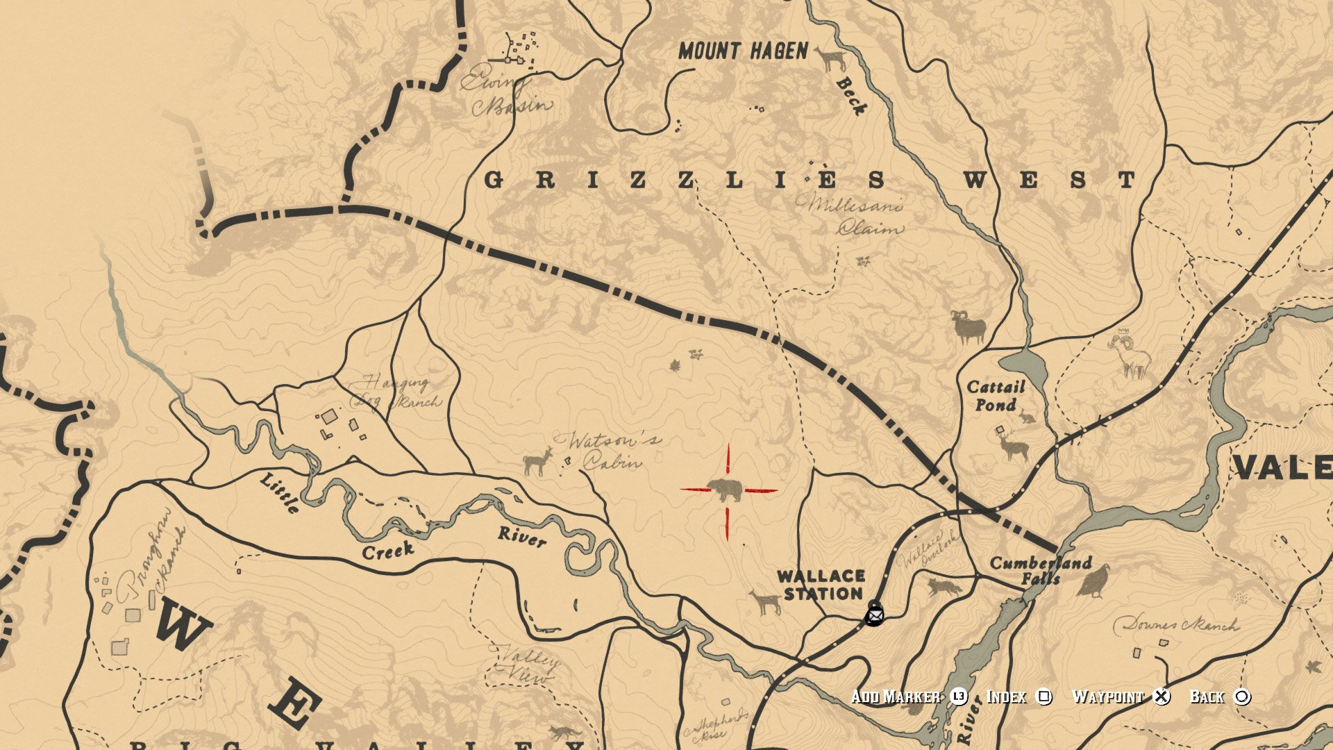 rdr2 map location
