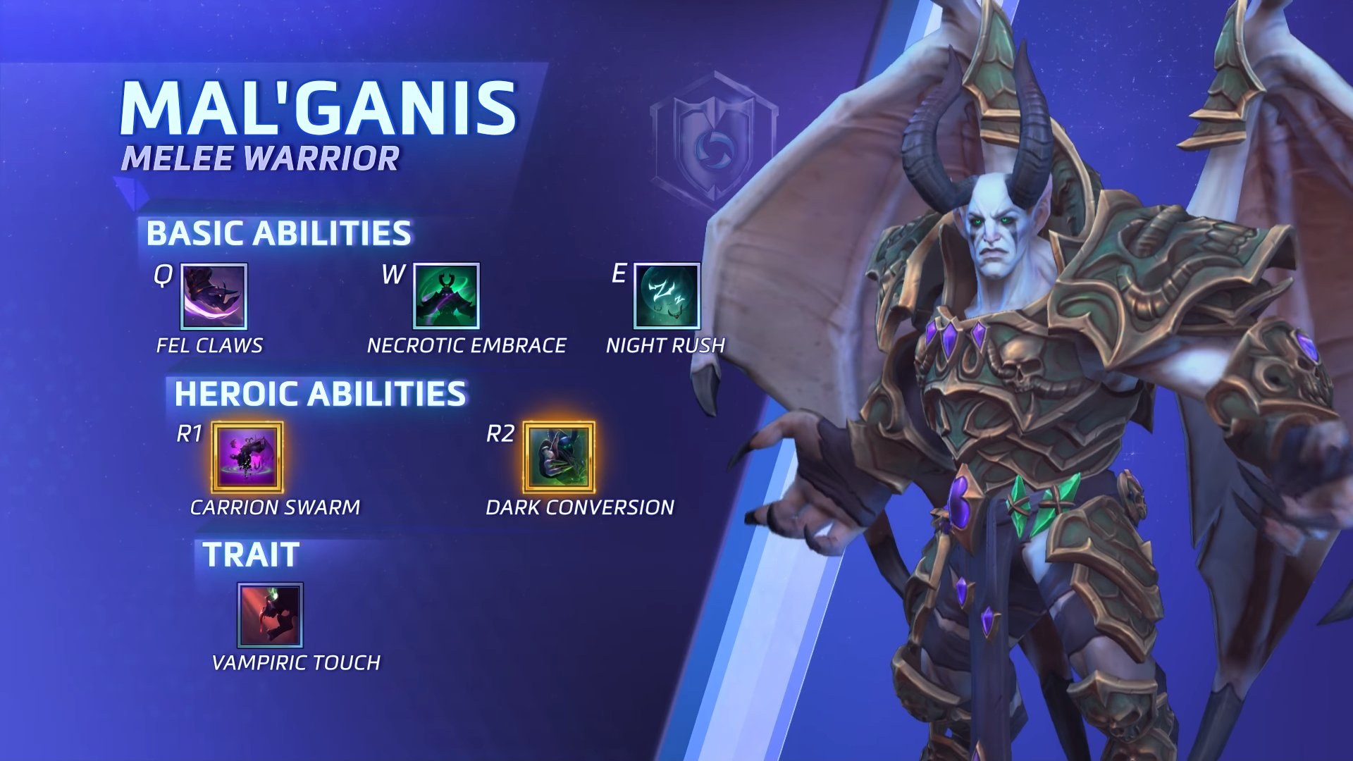 Despicable Dreadlord Mal Ganis Corrupts Heroes Of The Storm Shacknews Mal'ganis abilities include vampiric embrace which this video takes a lot of the mal'ganis w build talents. despicable dreadlord mal ganis corrupts