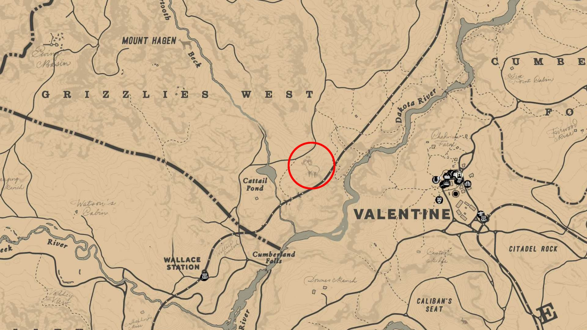Location of the Legendary Big Horn Ram