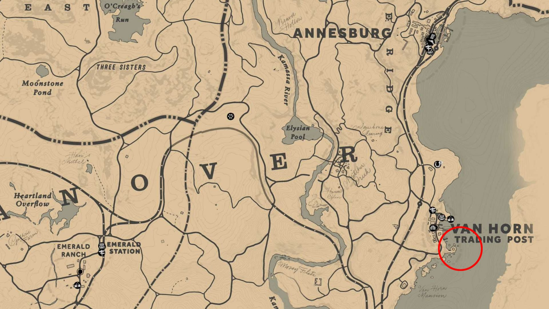 Location of the Legendary Muskie