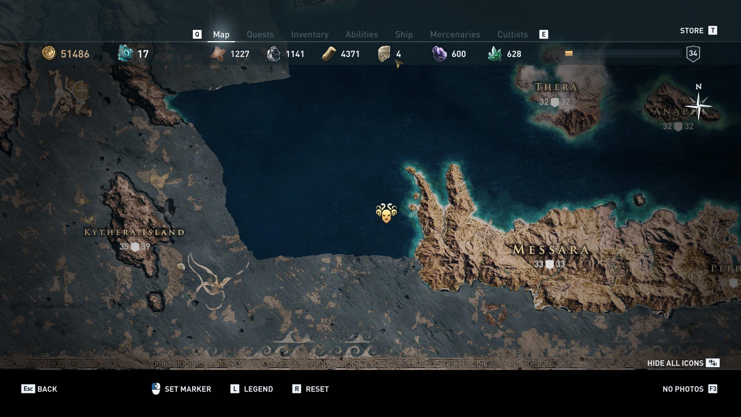 Gods of the Aegean Sea cultists - Melanthos location