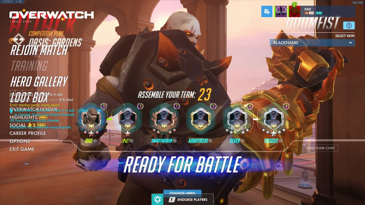 Screenshot of the Overwatch Halloween Terror UI bug. Credit to redditor moro__