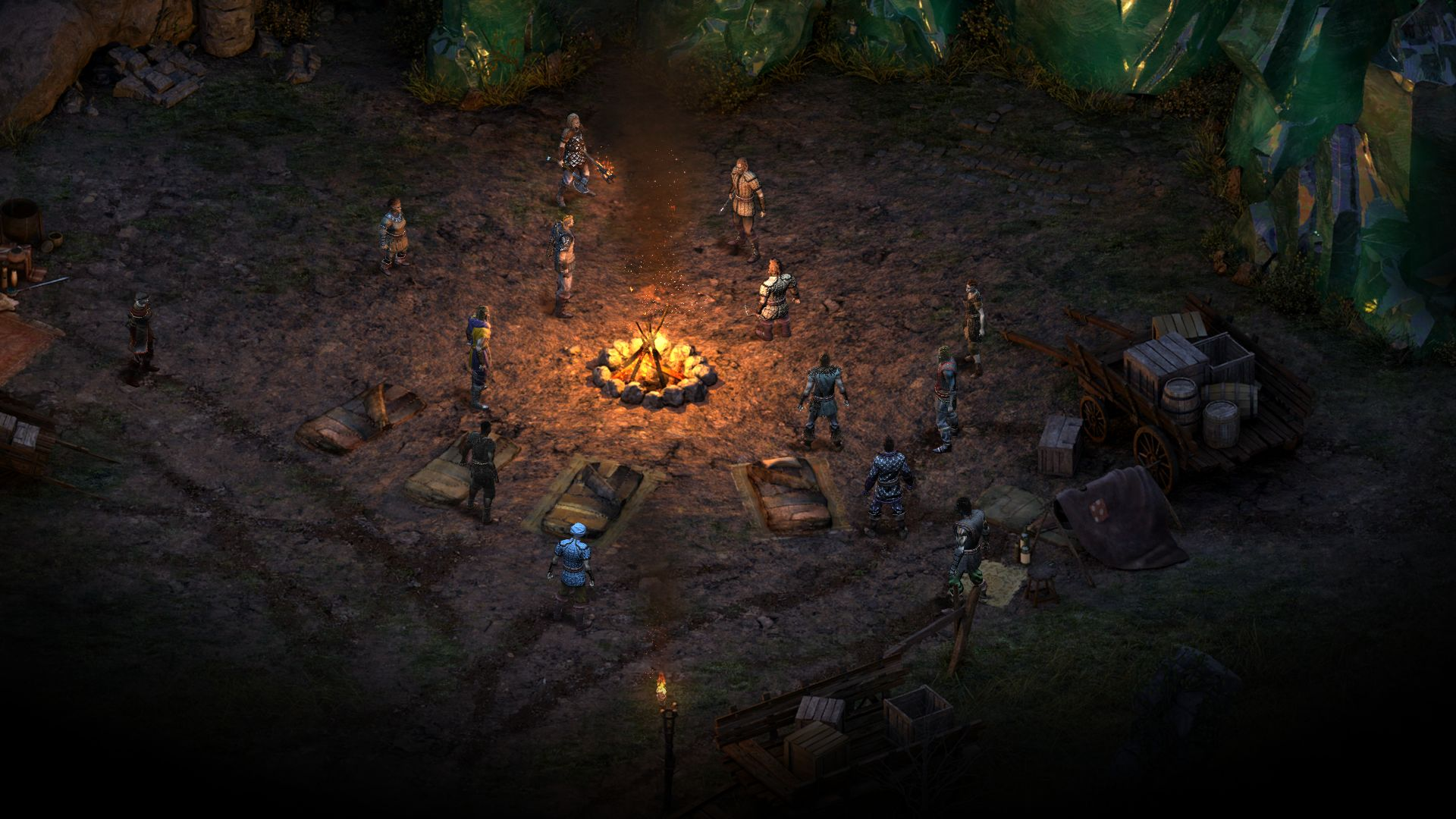 he Encampment, where players begin their journey in Pillars of Eternity.