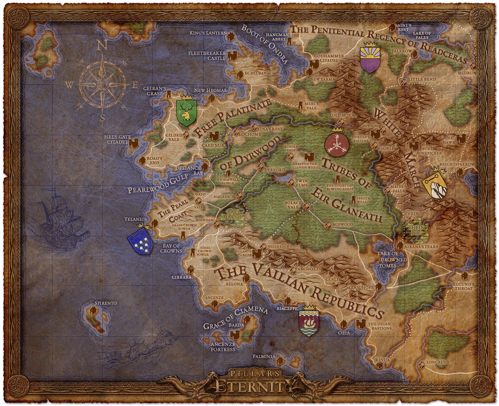The world of Eora in Pillars of Eternity.