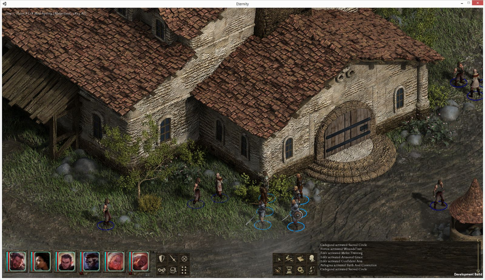 A screenshot from a Pillars of Eternity prototype circa August 2013. (Image courtesy of Obsidian.)