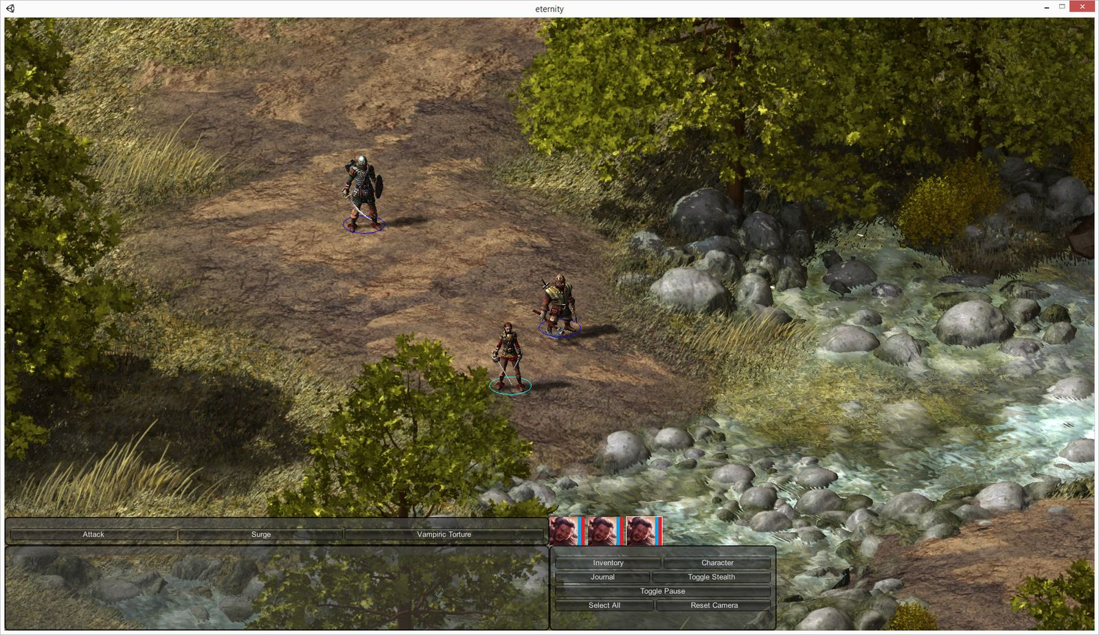 A screenshot from a Pillars of Eternity prototype circa March 2013. (Image courtesy of Obsidian.)
