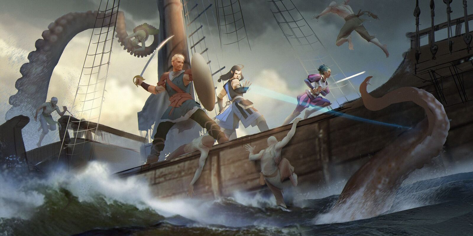 Exclusive: An early rendition of Deadfire's key art, used in promotion during the game's Fig campaign. (Image courtesy of Obsidian.)