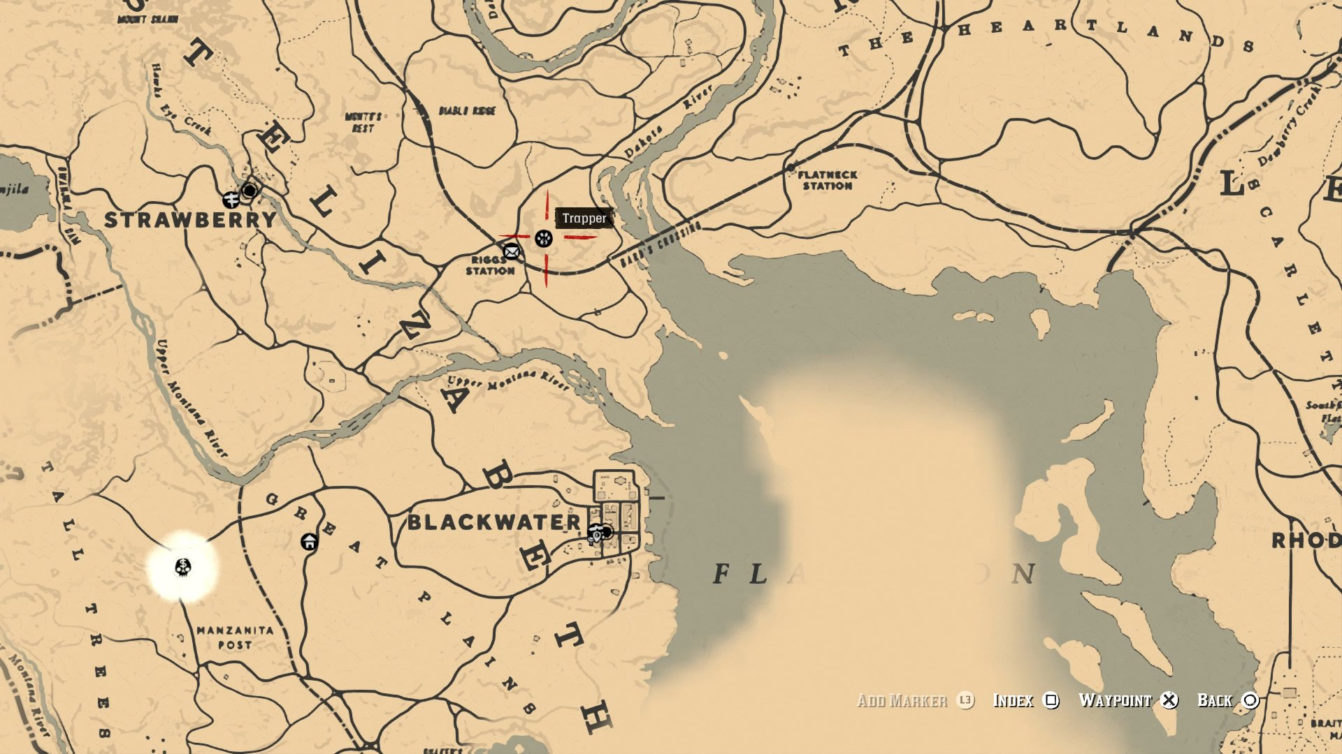 One of a few locations for the Trapper in Red Dead Redemption 2.