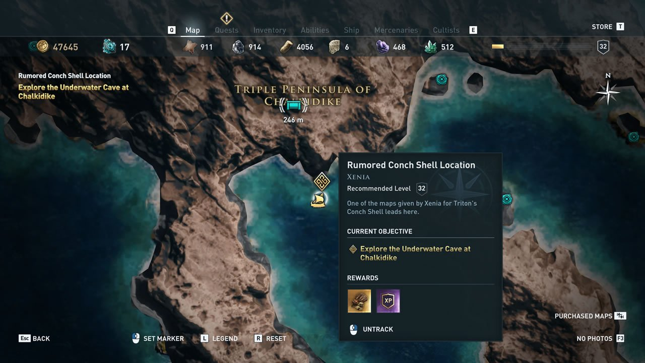 Xenia Treasure Map Quests And Locations Assassin S Creed Odyssey