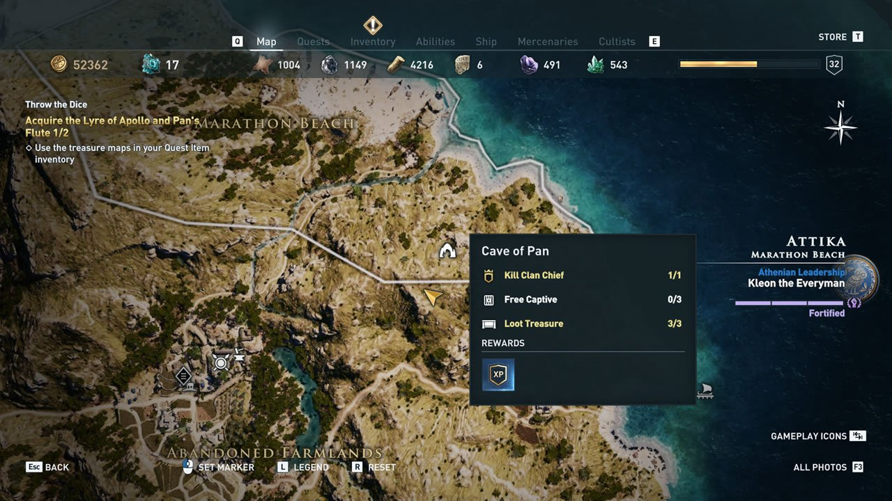 Xenia treasure map quests and locations - Assassin's Creed Odyssey