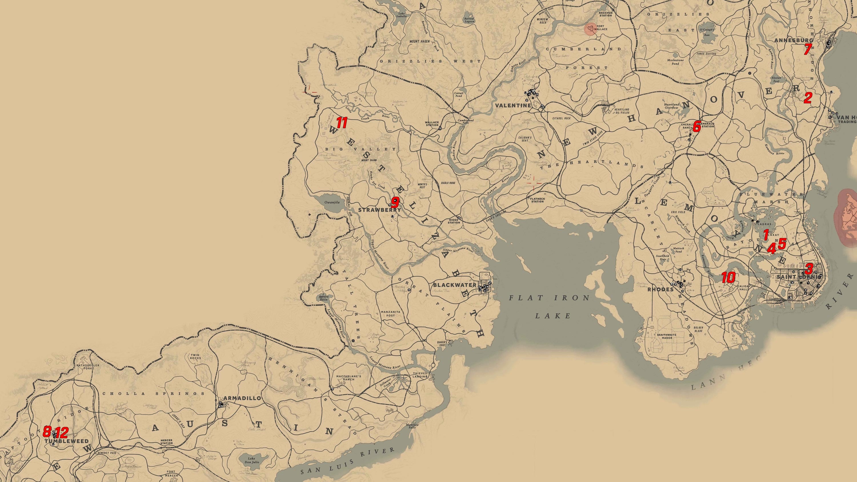 Red Dead Redemption Us Map.All Flora Of North America Cigarette Cards In Red Dead Redemption 2