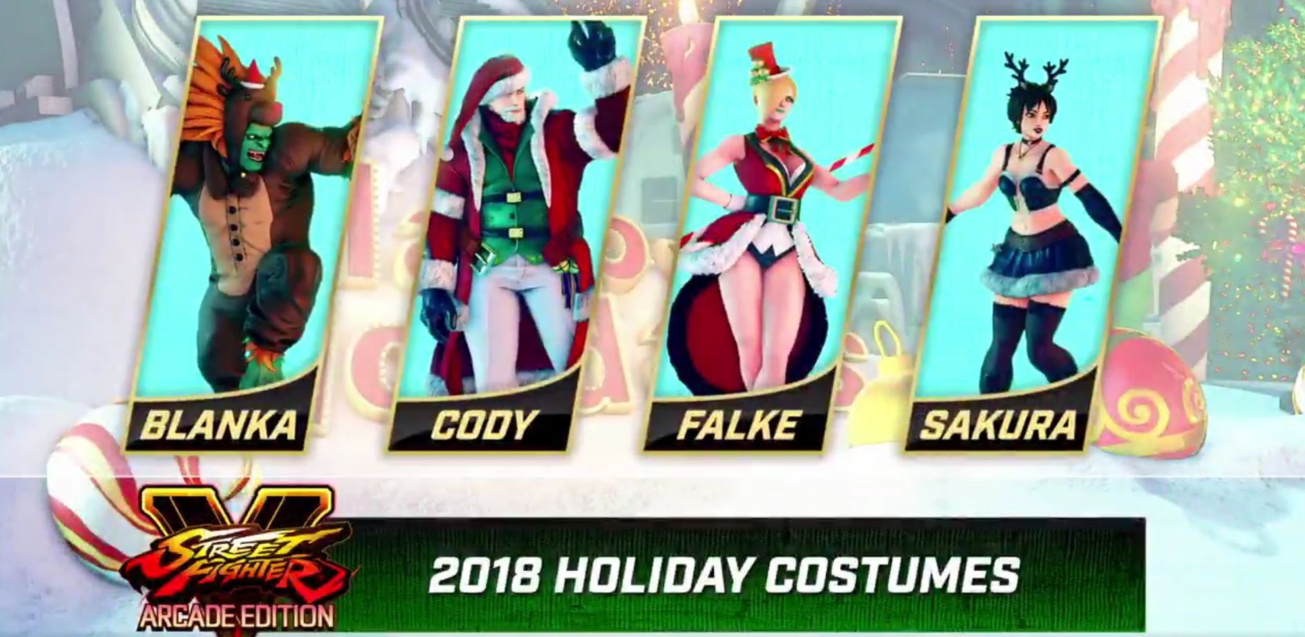 Street Fighter 5: Arcade Edition Holiday costumes are coming