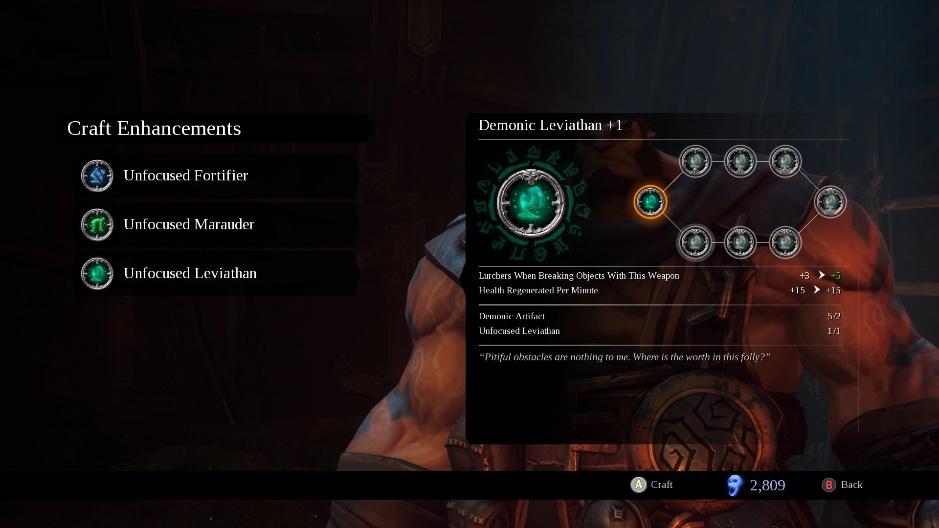 Darksiders 3 how to upgrade weapons and enchanments
