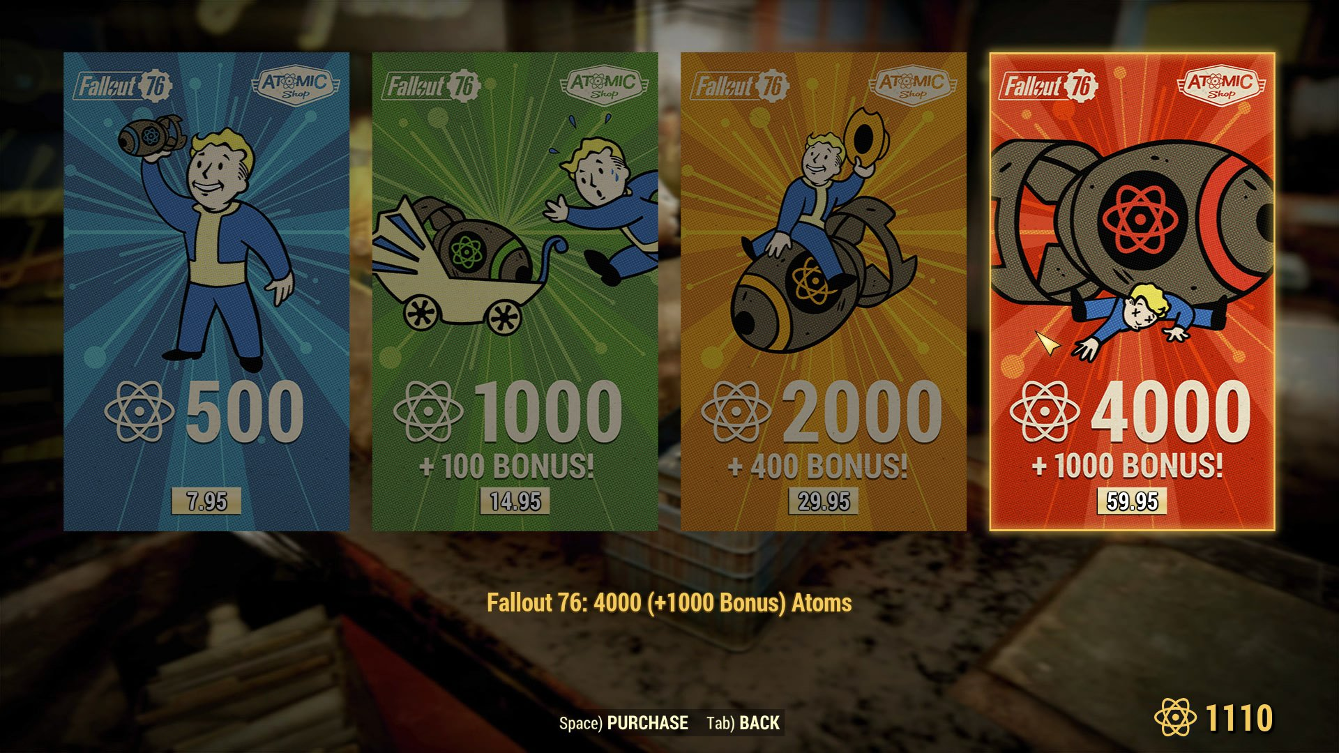 Atoms, Challenges, and Atomic Shop guide - Fallout 76