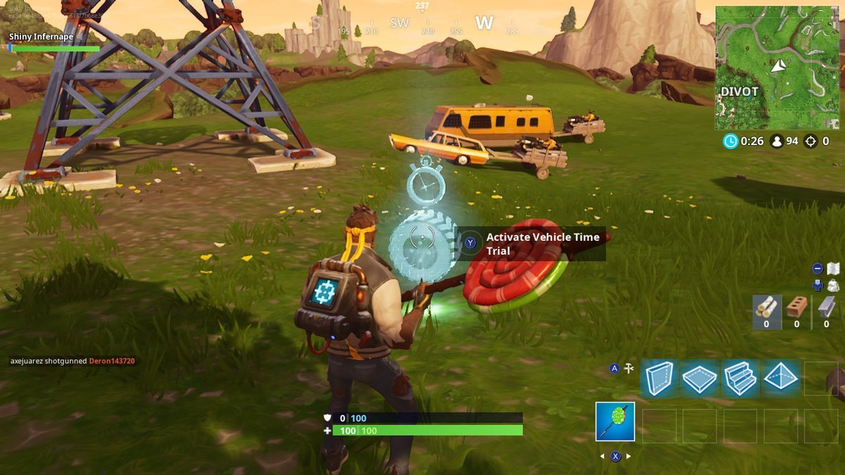 fortnite vehicle time trials dusty divot