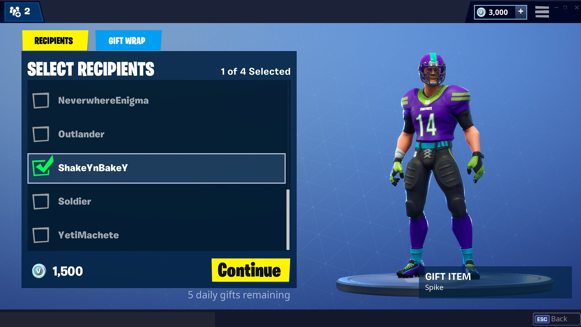 how gifting skins works in fortnite - fortnite list of all skins