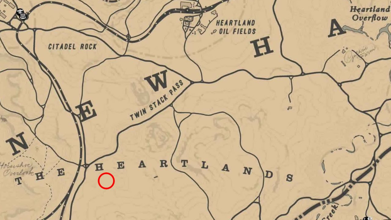 Yarrow location in Red Dead Redemption 2