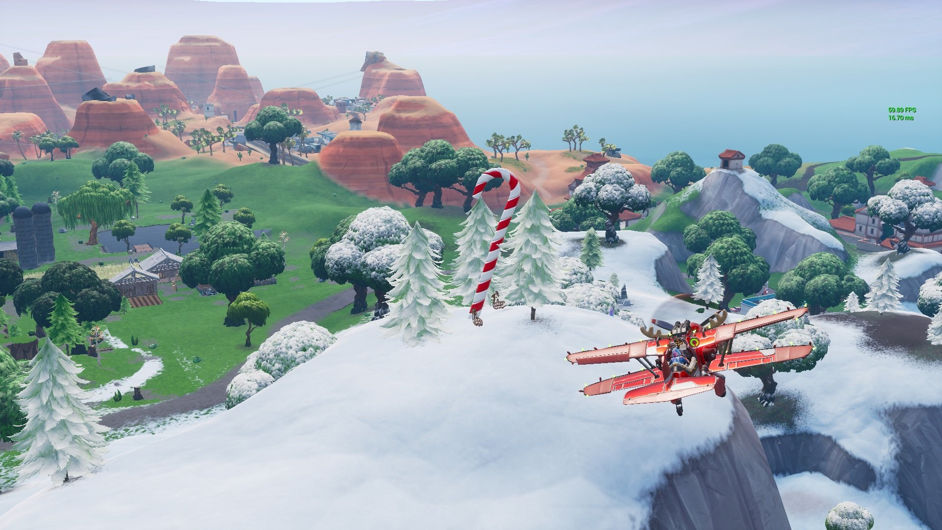 Days of Fortnite Day 2 Challenge - Visit Giant Candy Canes Locations