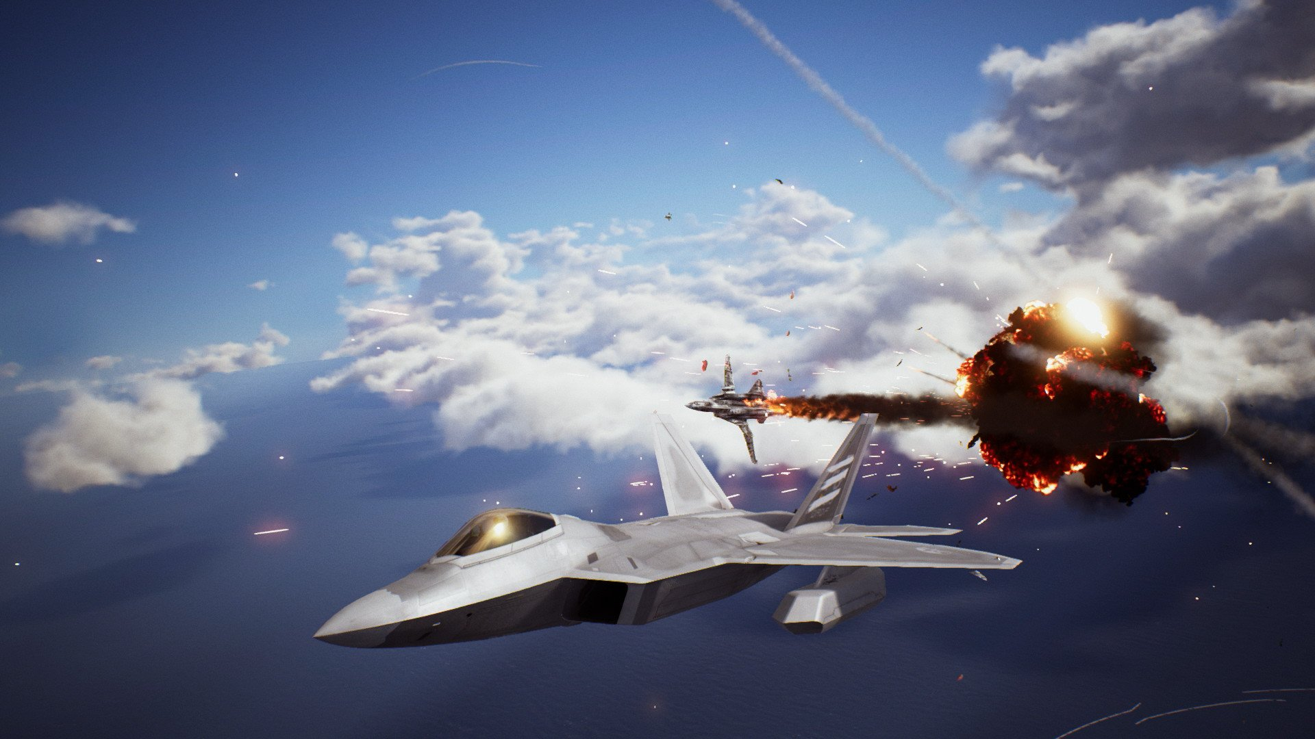 Ace Combat 7 screenshot of target exploding