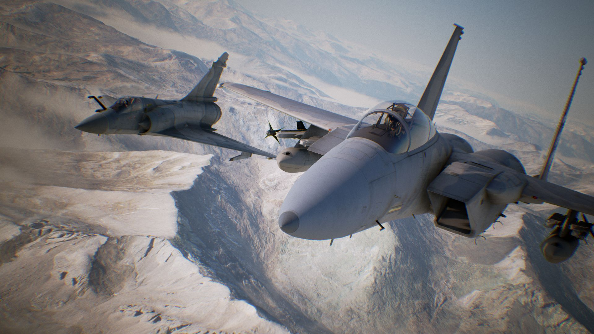 Ace Combat 7 Screenshot of Two Planes Flying