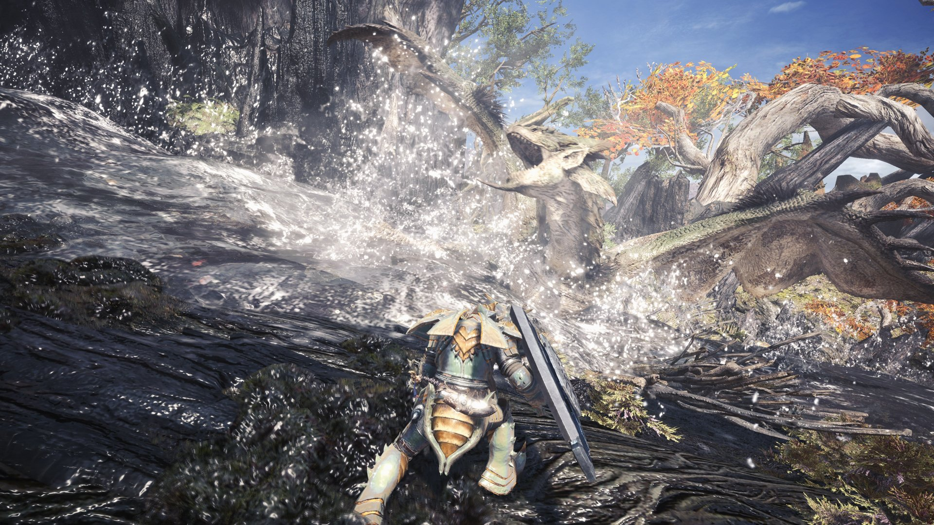 monster hunter world combat screenshot