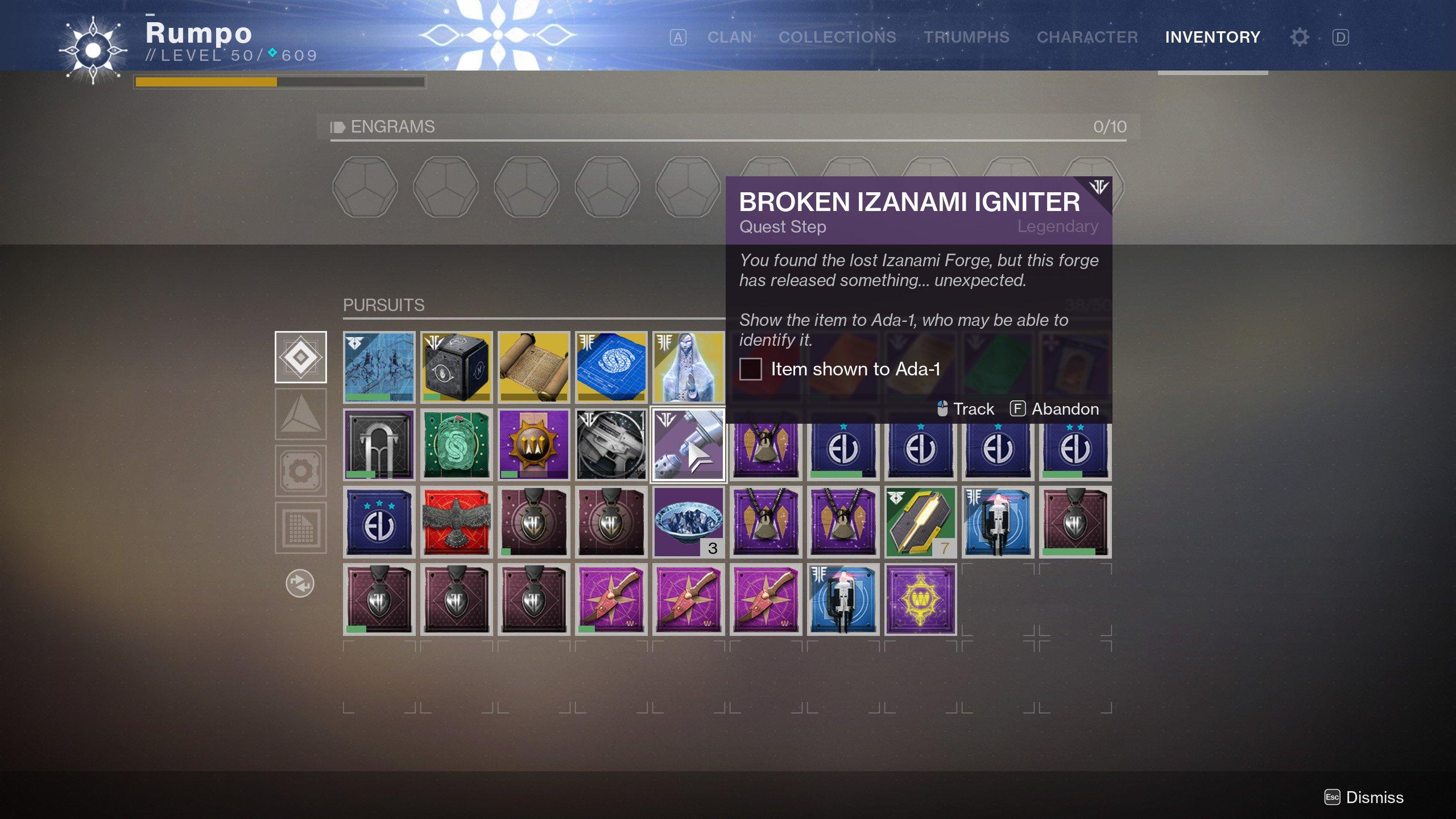 Broken Izanami Igniter Ada-1 Destiny 2