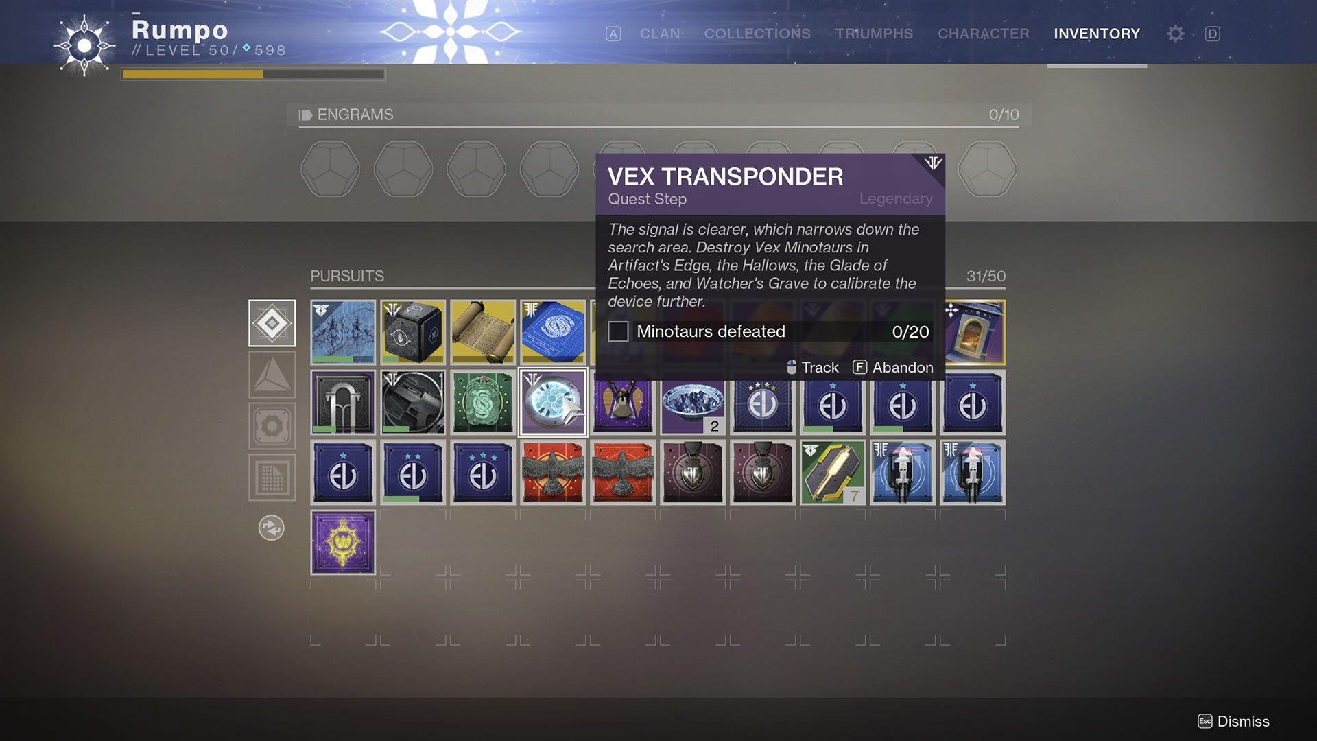 destiny 2 unlock inazami forge vex transponder 3