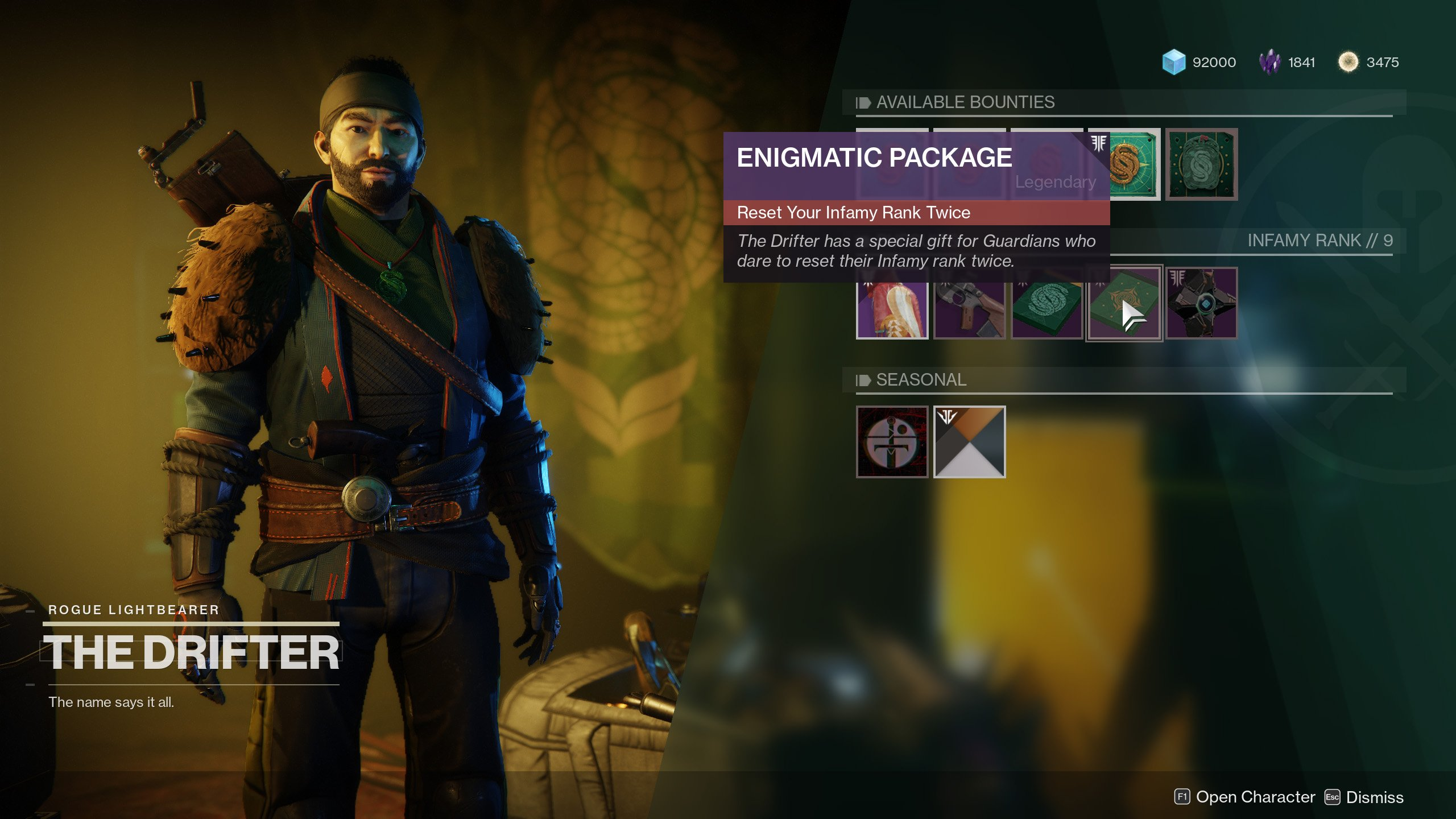 Enigmatic Package Drifter Destiny 2