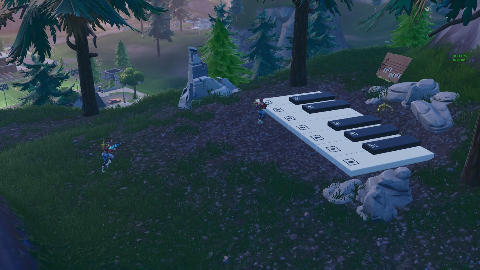 Fortnite sheet music location piano