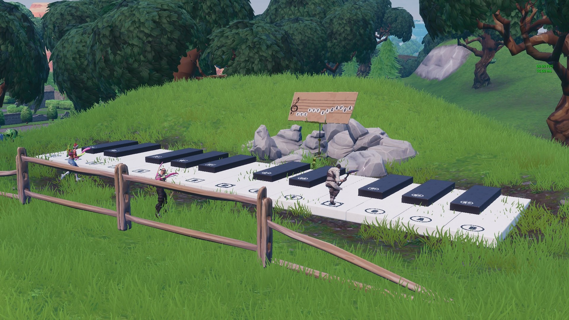 Fortnite sheet music piano location