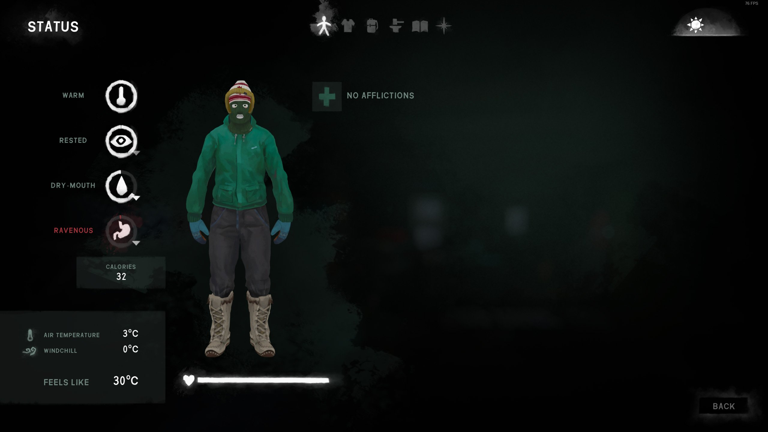 Well Fed Buff The Long Dark