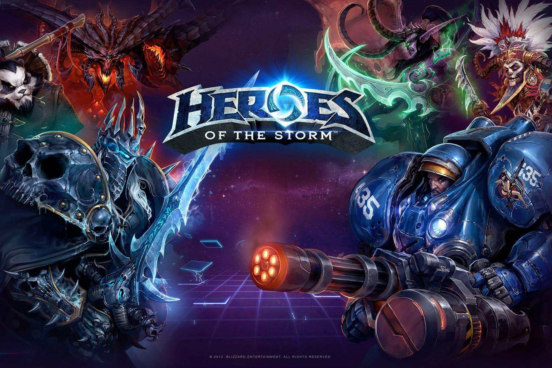 Heroes of the Storm promo art